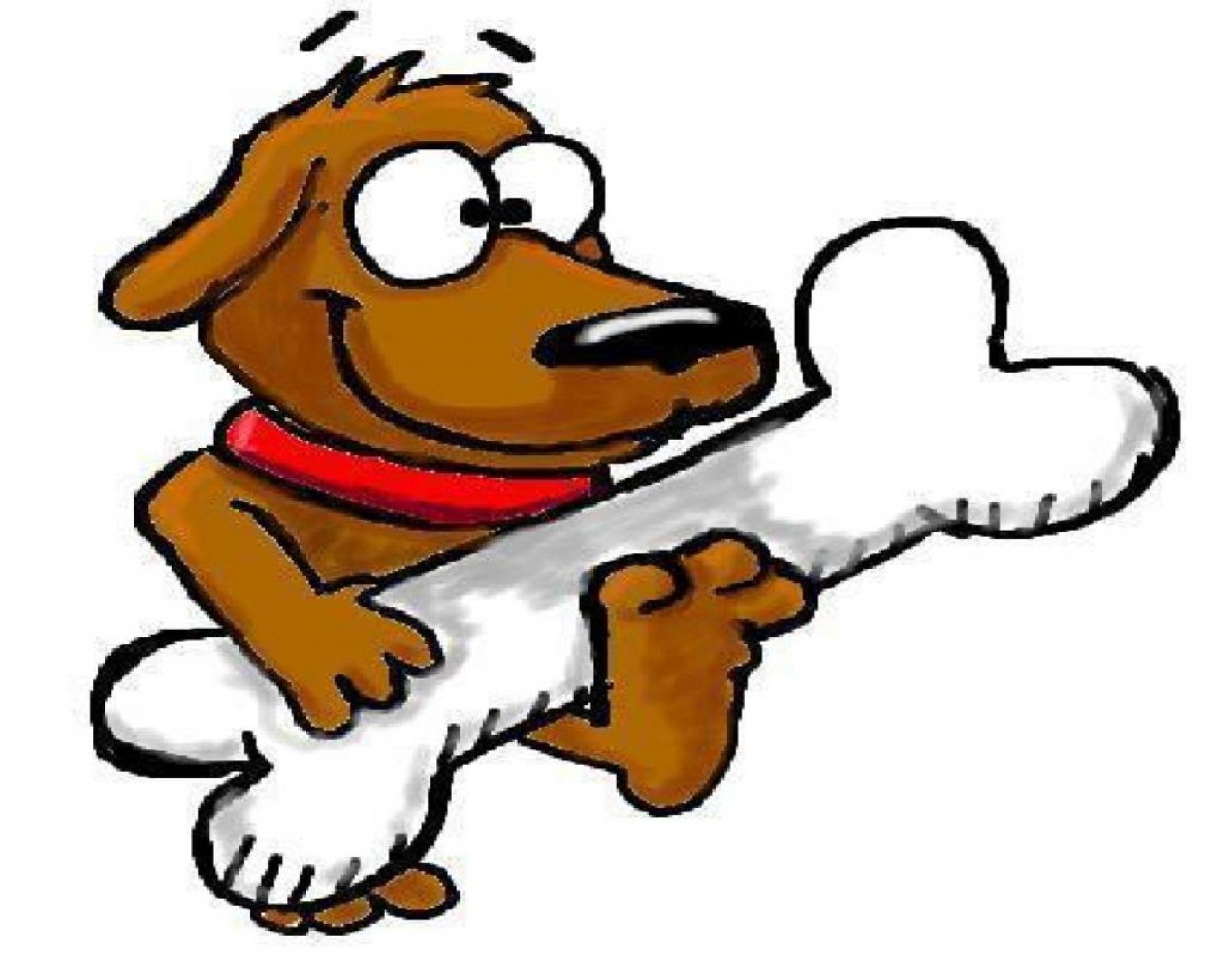Картинки собака с косточкой для детей, прикольная море